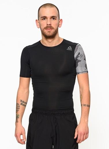 Reebok Bisiklet Yaka Tişört Siyah
